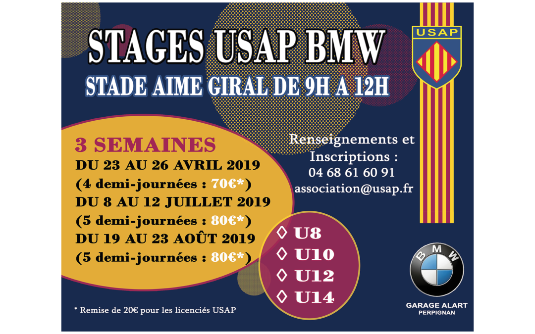 STAGES USAP BMW 2019