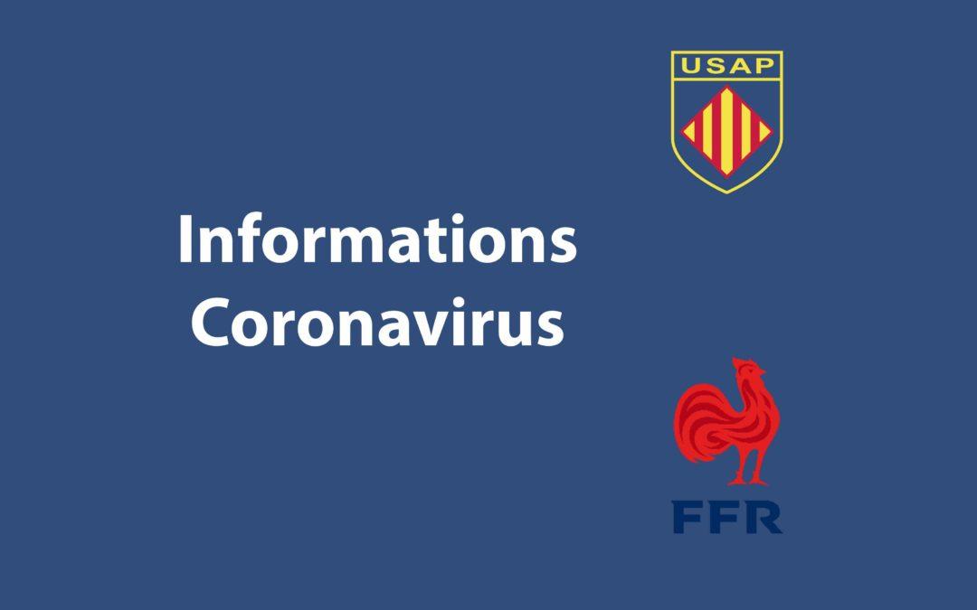 La FFR suspend l'ensemble de ses compétitions, rassemblements et entraînements