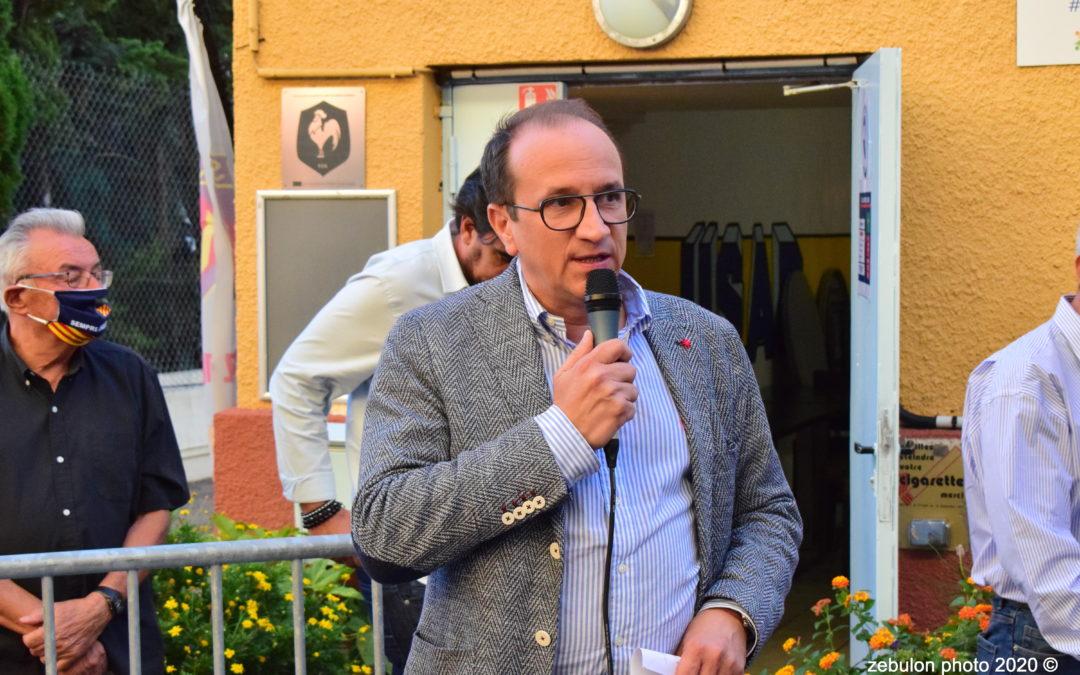 Le Président BARRIERE accueille les partenaires de l'ASSOCIATION